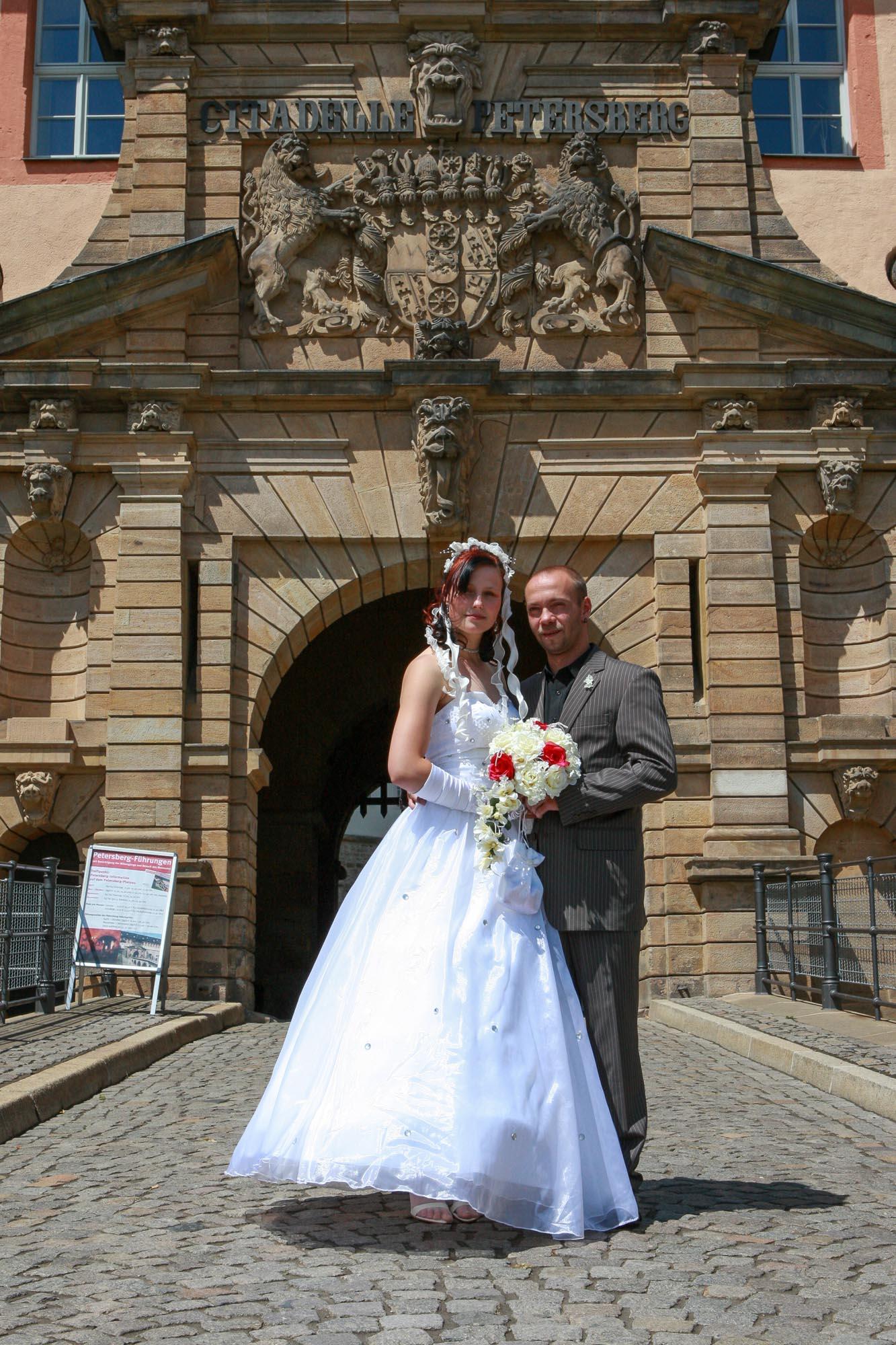 Hochzeitsshooting auf dem Petersberg