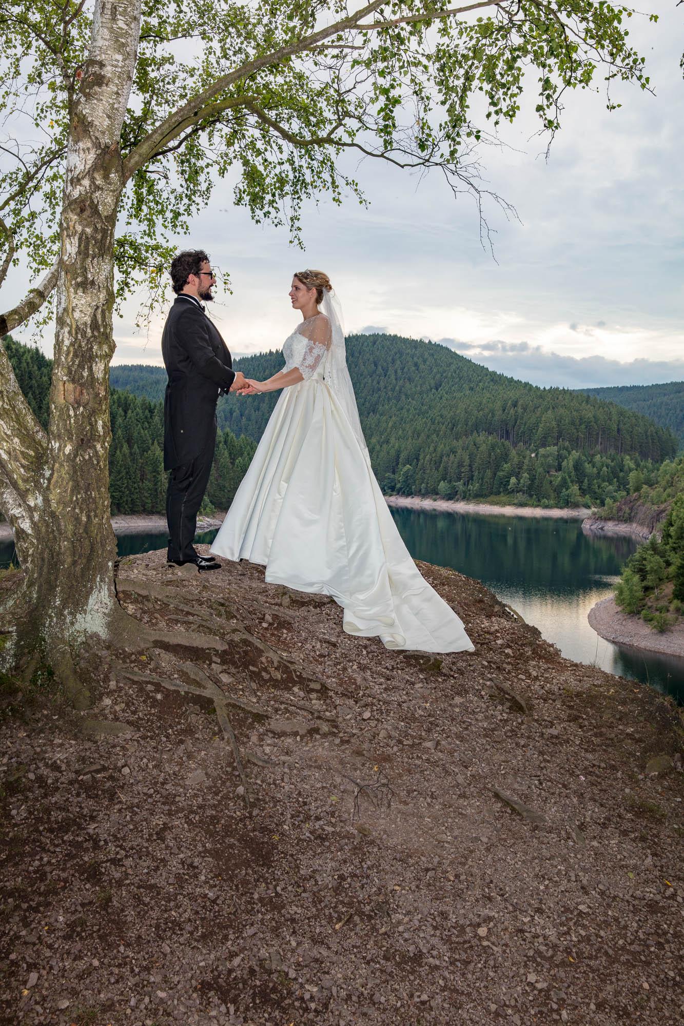 Hochzeitsfotografie an der Ohratalsperre