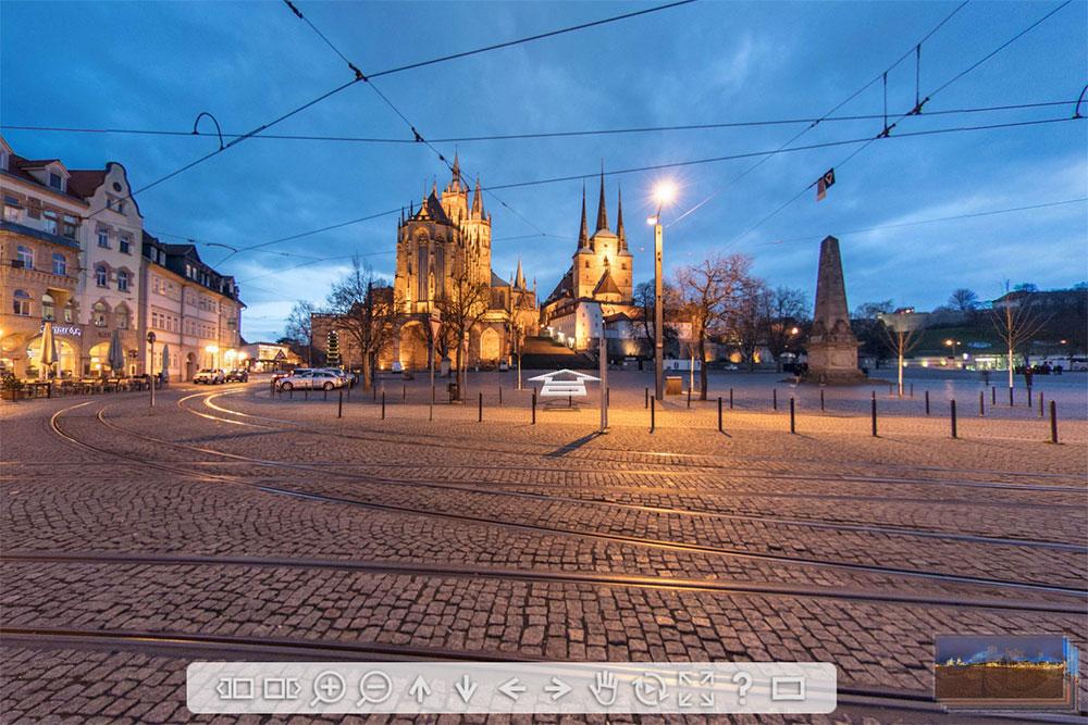Panorama Erfurt Domplatz