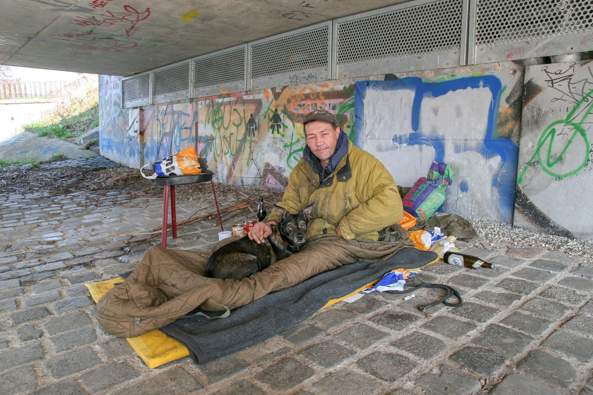 Obdachloser in Jena